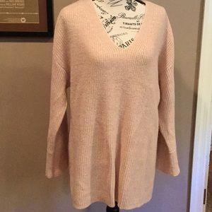 Calvin Klein pale pink shimmer sweater size xl
